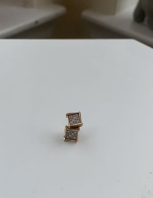 Real 10Kt Yellow Gold Diamond Earrings for Sale in Pinole, CA