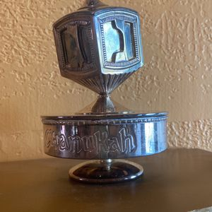 Silver Plated Spinning Dreidel Music Box By Godinger, Inc. for Sale in Miami, FL