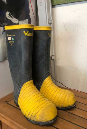 Viking steel toe rubber boots for Sale in Aurora, CO