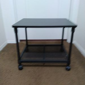 2 Tier Printer Desk With Wheels for Sale in Riverside, CA