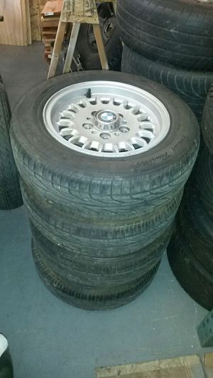 14 inch bmw wheels with brand new tires for Sale in Modesto, CA