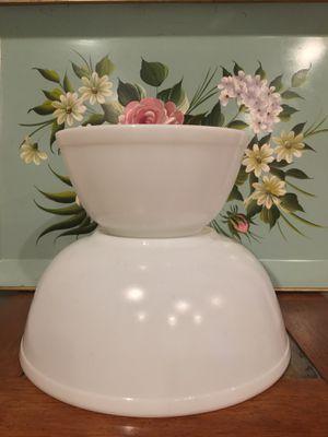 Vintage Pyrex True Opal Bowls 404 and 402 for Sale in Brambleton, VA