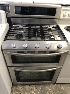 Kitchen aid brand refurbished stainless steel double Gas oven works great. for Sale in Washington, DC