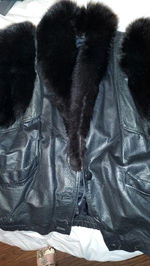 Mauri+Winter+Nappa+Leather+V71+Baby+Crocodile+Black+Jacket+7Xl+Cream for Sale in Wheat Ridge, CO