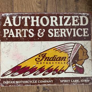 Tin Sign // Indian Motorcycles for Sale in Fairfield, PA