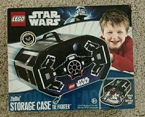 LEGO STAR WARS - TIE FIGHTER- Zip Bin Storage Case New In Box☆HOLDS 500 BRICKS☆ for Sale in Palatine, IL