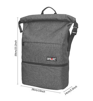 Roll top backpack from Life Easy *LIKE NEW *ANTI-THEFT *EXPANDABLE SPACE for Sale in Kirkland, WA
