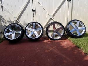 24 in wheels 6lug black rhino for Sale in Largo, FL