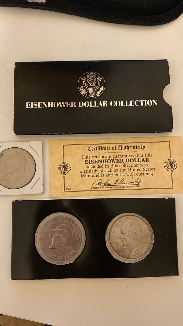 Eisenhower Dollars Coins Currency