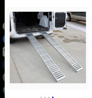 BRAND NEW Steel Ramp w zinc finish 6 feet x 9 inches for Sale in Pomona, CA
