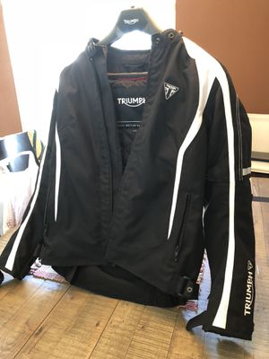 Triumph Motorcycle jacket with protection pads-new for Sale in Riverview, FL