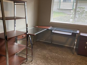 Office Corner Glass Desk 3 Pc Set for Sale in Federal Way,  WA