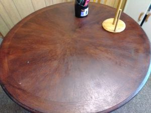 Tiger wood kitchen table for Sale in Fort Wayne, IN