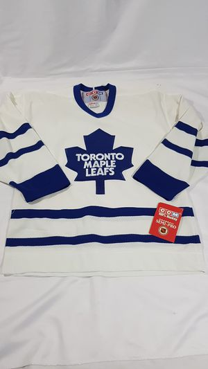 NHL white and blue CCM Toronto Maple Leafs Hockey kids jersey NEW size L/XL for Sale in Winter Springs, FL