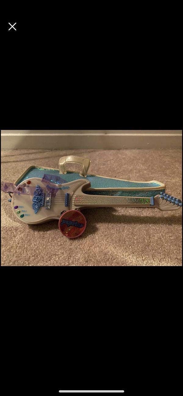 American girl doll guitar and tambourine
