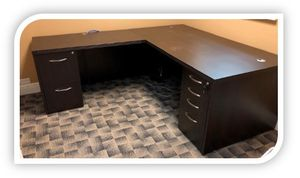 L-Shaped Dark Mocha desk. 2 are available. for Sale in Tampa, FL