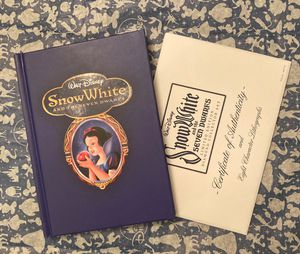 Walt Disney Snow White & The 7 Dwarfs Limited Edition Diamond Collector Book Set w/Lithographs for Sale in El Paso, TX