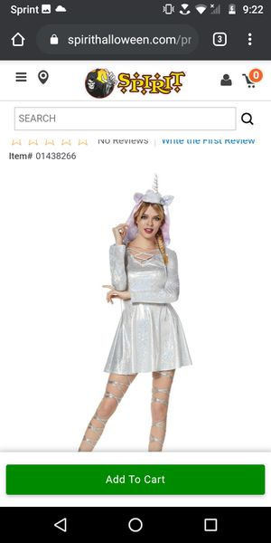 Lg adult unicorn costume and accessories for Sale in Portland, OR