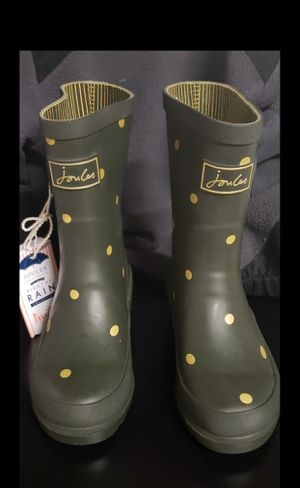 Joules Green and Gold Rain Boots size 12c kids for Sale in Kent, WA