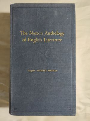The Norton Anthology of English Literature: Major Authors Edition. 1st Edition for Sale in Clovis, CA