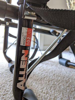 Allen 2 bike car rack - model 102db for Sale in Santa Clara, CA