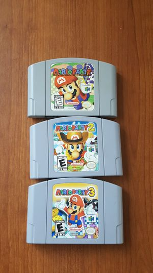 Mario party 1, 2, 3 fot n64 nintemdo 64 for Sale in San Diego, CA