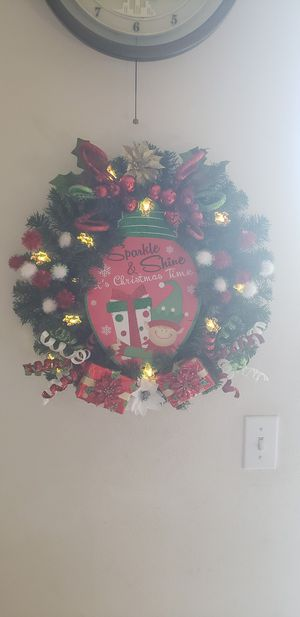 A Elfing little Christmas wreath for Sale in Fontana, CA