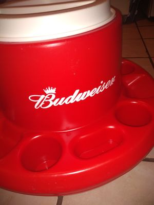 Budweiser pool/lake cooler with cup holders for Sale in St. Louis, MO
