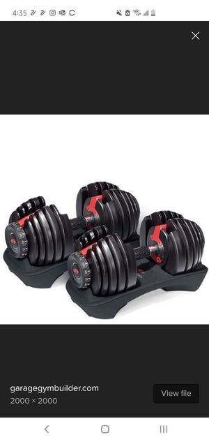 Adjustable dumbells - New in box, never opened - Bowflex for Sale in Fremont, CA