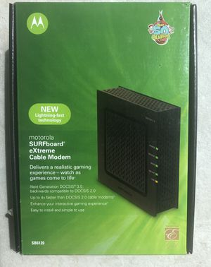 Motorola SB6120 SURFboard eXtreme Cable Modem Xfinity Comcast for Sale in Fort Lauderdale, FL