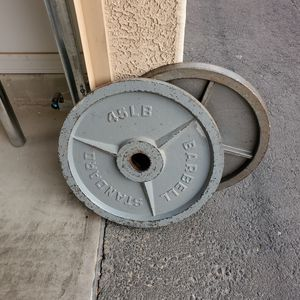 45LB Olympic Weight Plates (2pc) for Sale in Chandler, AZ