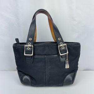 Coach Black Canvas Leather Handbag for Sale in Chandler, AZ