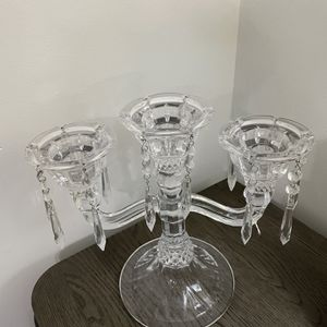 Crystal Clear Candleholder for Sale in Catonsville, MD