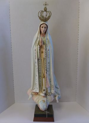 Vintage Our Lady of Fatima - Mother Mary Statue for Sale in Saint Michael, PA