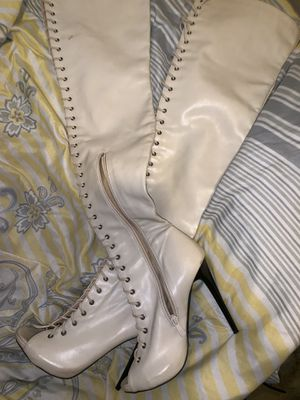 Long leather thigh high boots for Sale in Mount Dora, FL