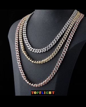 8mm Iced Out Miami Cuban Link Bust Down for Sale in Washington, DC