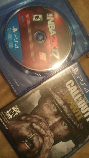 COD WW2 and Nba 2k17 for Sale in Fresno, CA