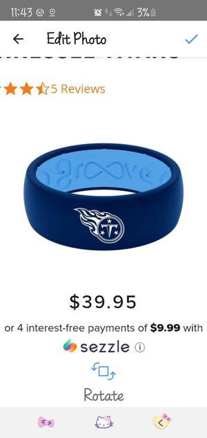 New Mens Size 11 TN Titans Wedding Band with matching tin ring box for Sale in Murfreesboro, TN