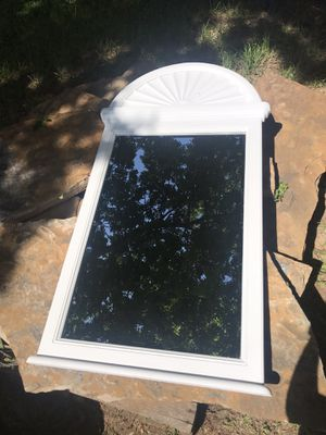 shabby chic wooden accent wall mirror for Sale in Fort Worth, TX