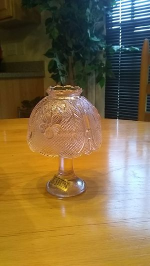 Antique pink glass candle lamp for Sale in Greensboro, NC