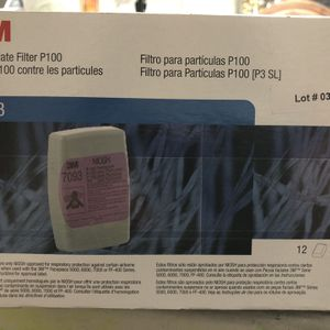 New 3M particulate Filter P100 - 7093 Case Of 12 Will Also Individual Sealed Filter By Pair for Sale in Hollywood, FL