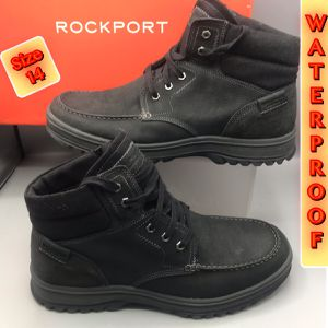 Brand New Rockport Waterproof Leather Upper Hydro Shield Comfortable Boots Size 14 for Sale in Middletown, NJ