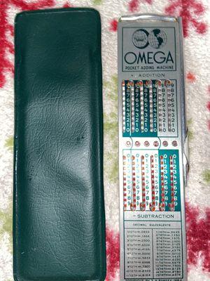 Vintage Omega pocket adding machine for Sale in Keizer, OR