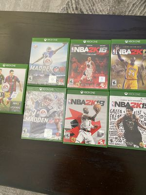 Xbox One games - all 7 for $20 for Sale in San Diego, CA