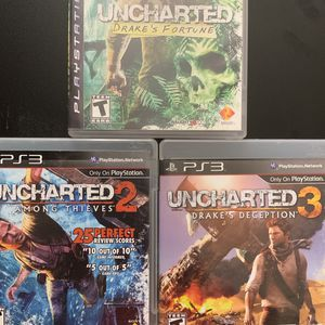 PlayStation PS3 Uncharted games Collection for Sale in Scottsdale, AZ