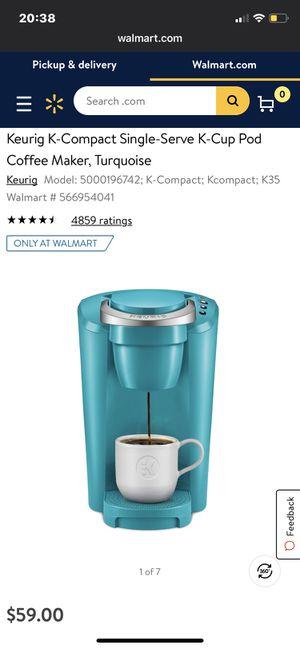 Keurig Coffee Maker Teal for Sale in Sheppard Air Force Base, TX