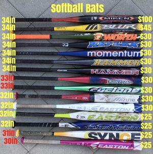 Softball bats equipment Easton DeMarini tpx gloves bat for Sale in Culver City, CA