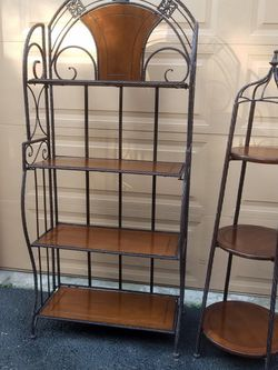 Beautiful Foldable Storage Shelf Units / Bookcase Bookshelf Asking Only $150 For Both Made In USA Brand New Vintage for Sale in Everett,  WA