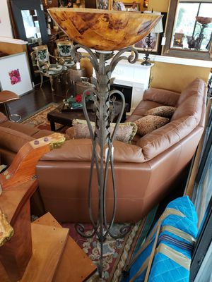 Floor Lamp w/ Amber Glass for Sale in Wilton Manors, FL