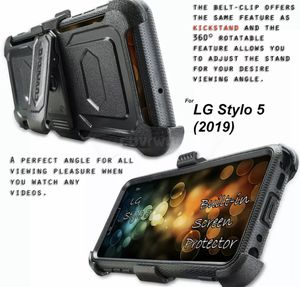 Built-In Screen Protector / Kickstand LG Stylo 5 / 5x / 5+ Plus 2019 Armor Holster Case Belt Clip Phone Cover for Sale in Los Angeles, CA